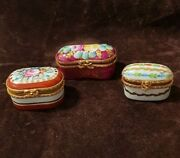 Limoges Hand Painted - Miniature Porcelain - Set Of 12 Boxes - Rare - New