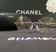 Very Rare Auth Vintage Silver Wire Runway Sample Collector Sunglasses