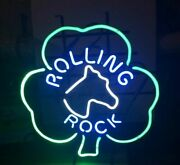 Rolling Rock 17x14 Neon Sign Lamp Poster Light Beer Bar With Dimmer