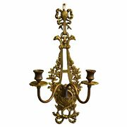 French Two Candle Brass Sconce