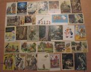 100 Old Lot Russian Post Card Kids Child Children 1950-60s Animal Toy Boy Girl
