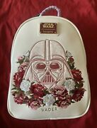 Rare New With Tags Loungefly Star Wars Darth Vader Floral Mini Backpack