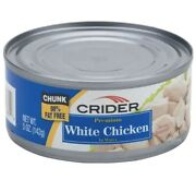 🌟24🌟cans 5 Oz Crider Premium Chunk White Chicken Meat In Water Exp Date 9/22