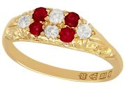 Antique Ruby And Diamond Ring In 18k Yellow Gold - Size 6.5
