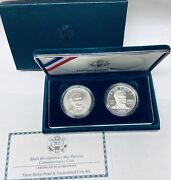 1998-s 1 Black Patriots Commemorative Silver Two-coins Set In Ogp Bu And Proof