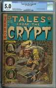 Tales From The Crypt 29 Cgc 5.0 Ec Pre-code Coffin Cover Horror Jack Davis