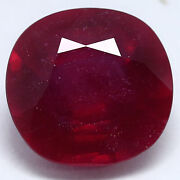 23.35 Ct. Natural Red Ruby Madagascar Glass Filled Cushion 16 X 17 Mm.