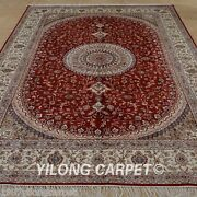 Yilong 6and039x9and039 Classic Silk Area Rug Hand Knotted Indoor Carpet Sale Handmade 1233
