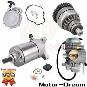 Recoil Pull Starter And Starter And Drive And Carburetor Fit For Polaris Sportsman 500