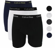 New In Box Three Pack Menand039s Calvin Klein Cotton Boxer Brief Boxers 100 Cotton