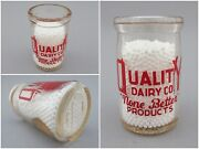 Vintage Half Pint Glass Creamer Milk Bottle, Quality Dairy Co. Of St. Louis, Mo