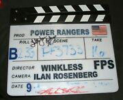 Mighty Morphin Power Rangers - Set Screen Used Clapboard Clapper Auto Signed