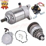 Recoil Pull Starter And Starter And Relay Solenoid And Drive For Polaris Sportsman 500