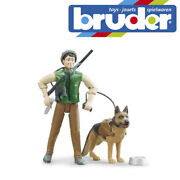 Bruder Bworld Forester With Dog And Equipment Kid Children Forestry Toy Scale 116