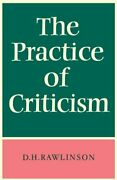 The Practice Of Criticism Rawlinson H. New 9780521095402 Fast Free Shipping