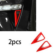 Fit For Ford Mustang 2018-2020 Abs Red Daytime Running Lights Frame Cover Trim