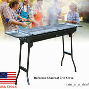 Portable Barbeque Grill Bbq Kabab Stainless Charcoal Grill Camping Outdoor Usa