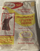 Vintage Waste Basket Boutique Collection Throw Away Paper Dress