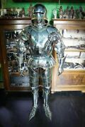 Medieval Knight Armor Set Of Metal Pauldrons And Gorget Warrior Armor Larp Costume
