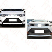 2x For Toyota Vios 2014-2016 Car Front Lower Grille Grid Cover Metal Frame Trims