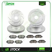 Fits 2005 2006 2007 2008 Infiniti Fx45 Front And Rear Ceramic Brake Pad And Rotor