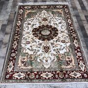Yilong 4and039x6and039 Hand Knotted Classic Silk Rugs Handmade Vintage Floor Carpets K06c