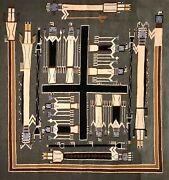 A Spectacular Navajo Sandpainting Rug, Possibly Ruby Manuelito, Excellent