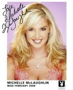 Michelle Mclaughlin Playboy Playmate Sexy Signed Playboy Promo Photo