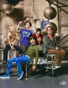 Jim Parsons Kaley Cuoco Full Cast Signed Autograph -big Bang Theory 11x14 Photo
