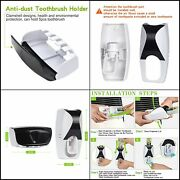 Toothbrush Holder Cleaner And Sterilizer And Automatic Toothpaste Dispenser