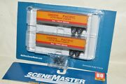 Ho Scale Walthers 35' Piggyback Trailer Train Set 2 Union Pacific Rr Specific