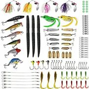 Fishing Lures Baits Tackle Including Crankbaits, Spinnerbaits, Plastic Worms,