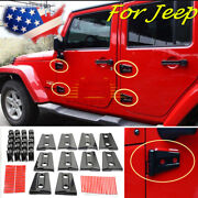 Hood And Door Hinge Cover For Jeep Wrangler Jk Jku 2007-2017 Unlimited Accessories
