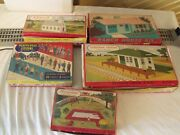 Lot Of 5 Boxed Plasticville Buildings And Accessories