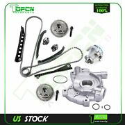 For 04-08 Ford Lincoln 5.4l Timing Chain Cam Phasers Water Oil Pump Kit