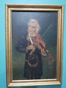 Antique Oil Painting On Academy Board No Info In The Artisti Tichy In Pencil Ob