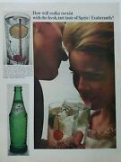 1965 How Will Vodka Coexist With Sprite Soda Green Bottle Vintage Ad