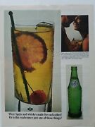 1965 Were Sprite Soda And Whiskey Made For Each Other Green Bottle Cocktail Ad