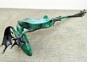 Yo Foundry Proof 10/10 Retired Bronze Frog By The Frogman Tim Cotterill