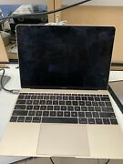 Macbook Gold 12in 2015 Broken Us Shipping Only