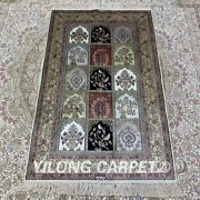 Yilong 2.5and039x4and039 Four Seasons Hand Knotted Carpets Silk Turkish Handmade Rugs 152b