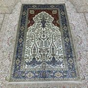 Yilong 3and039x5and039 Tree Of Life Handcraft Carpet Villa Hand Knotted Silk Rug 273b