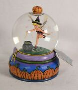 Disney Traditions Jim Shore Tinkerbell Halloween Holiday Water Snow Globe New