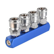 Female Thread 4 Way Pass Quick Fitting Connect Coupler Air Hose Coupling Tool