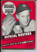 Baseball Digest 4/1954-official Team Rosters-whitey Ford Cover-info On Over 6...
