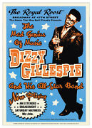 Vintage Jazz Poster Dizzy Gillespie Royal Roost Nyc, 1948 Music 24x17 Art Print