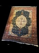 Fabulous 9 X 12 Antique High Quality Authentic Hand Knotted Rug.