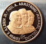 Medal Apollo 11 1969 First Moon Landing. Proof. Gold.