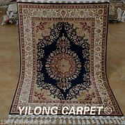 Yilong 3.5'x5' Antique Handmade Silk Rugs Carpets Modern Hand Knotted Sales 1769