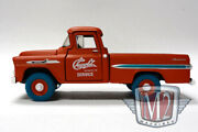 M2 Machines 1958 Chevy Apache Truck Service Chase 1/108 Blue Tires 1/64 Diecast